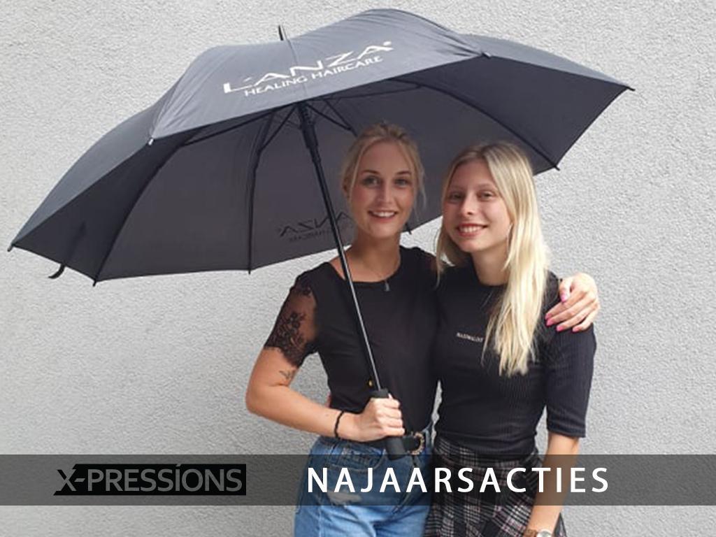 meisjes met paraplu